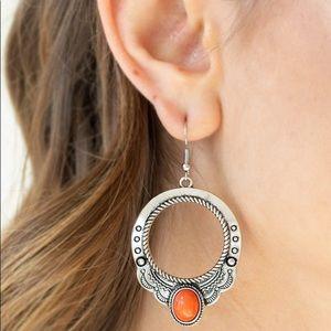 "New! Paparazzi ""Natural Spring"" Orange Earrings"